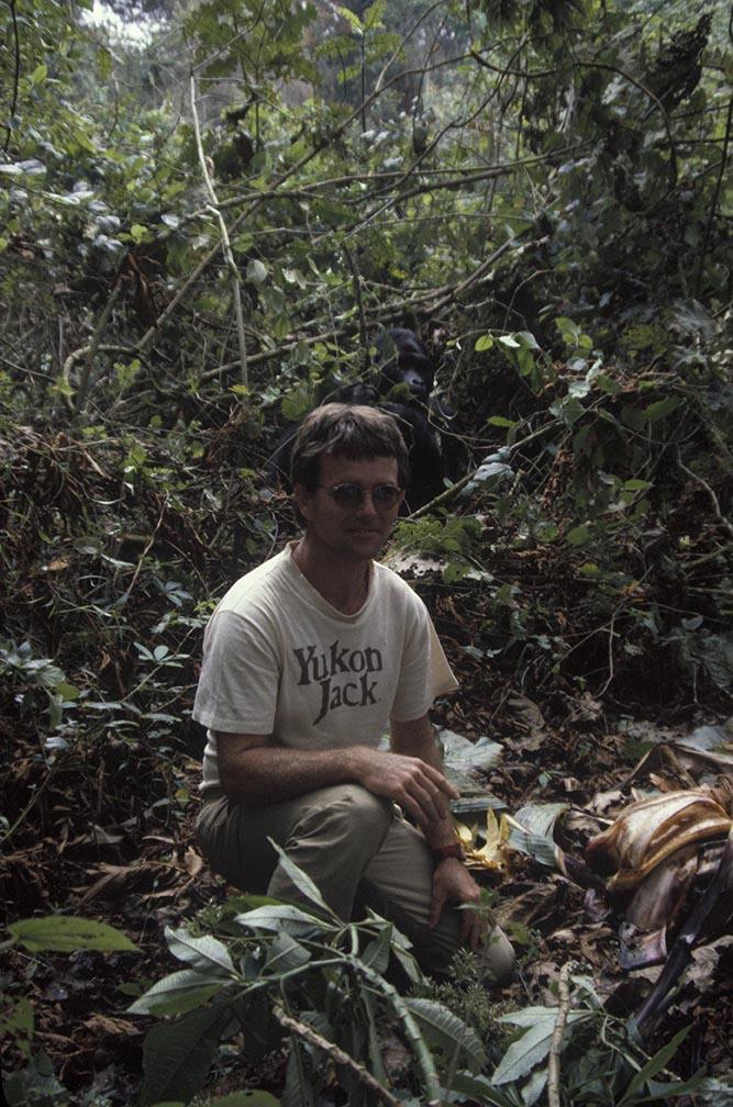 Mike Grant with Gorilla