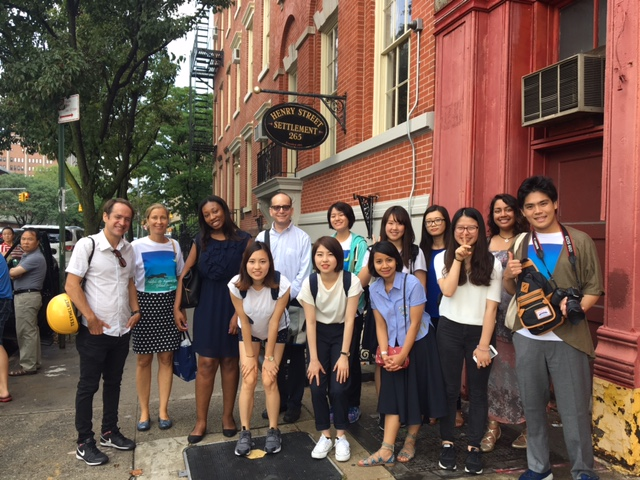 Adelphi and Kwansei Gakuin University students in Manhattan