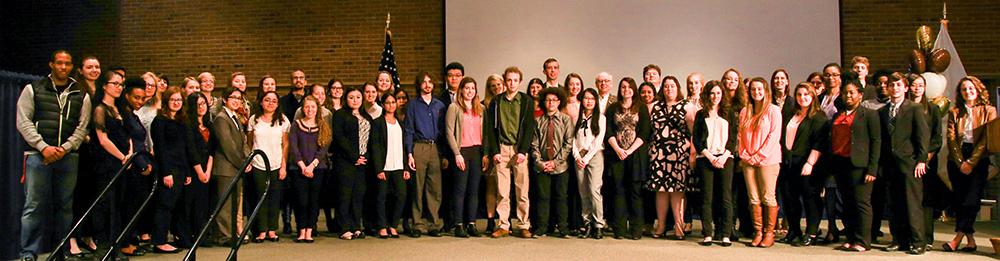 Group shot of all 2017 Research Conference student participants.