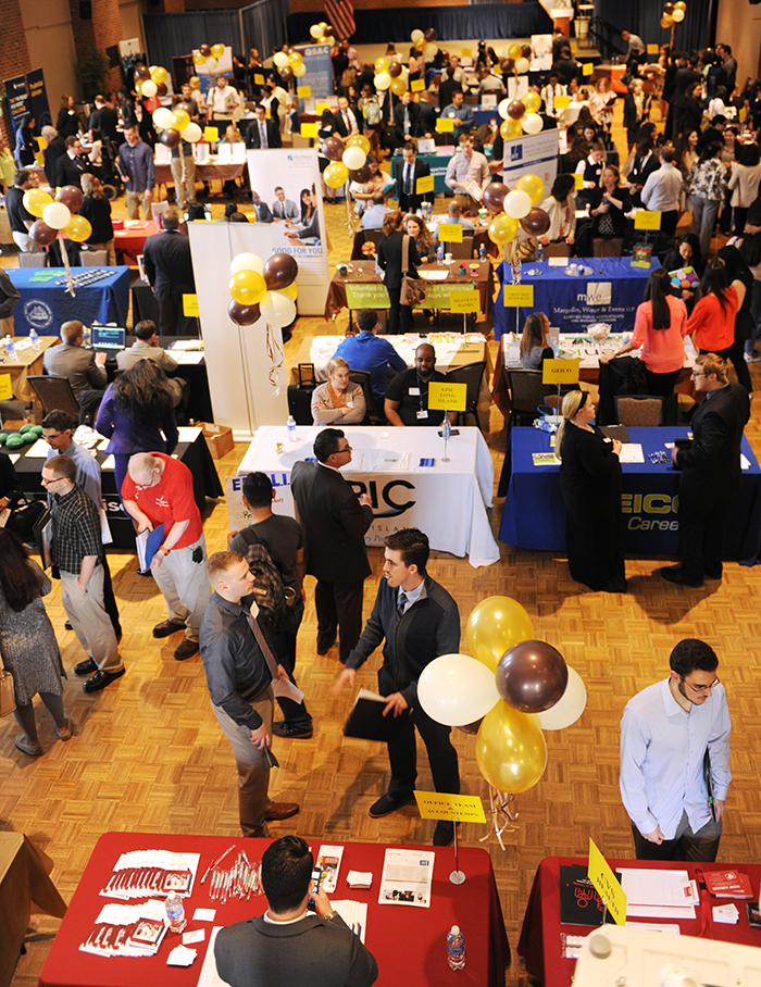 Adelphi Job Fair Crowd
