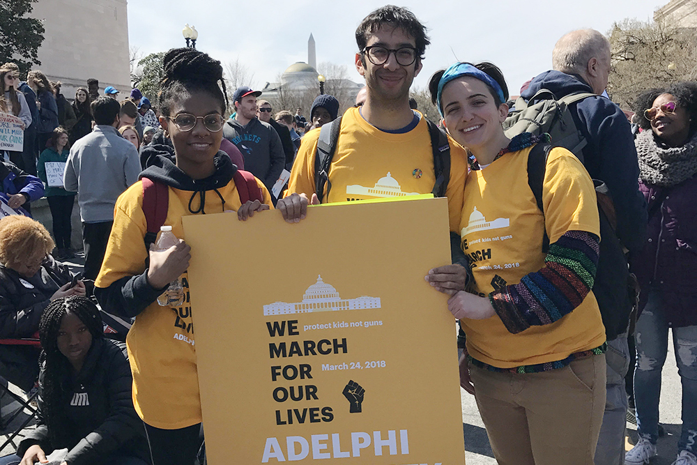 Adelphi Students at March for our Lives in Washington DC