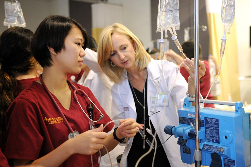 Nursing Student and Professor
