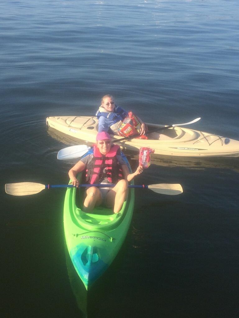 theresa woods in kayak