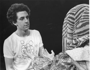 Jonathan Larson in a production while a student at Adelphi