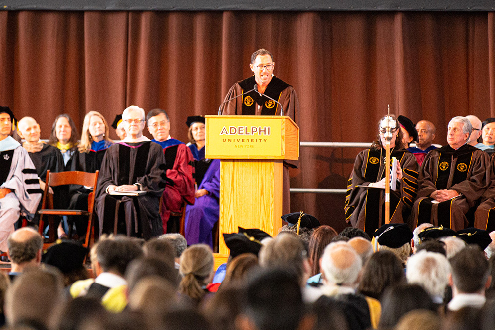 Scott Dimig '06, speaking at Matriculation