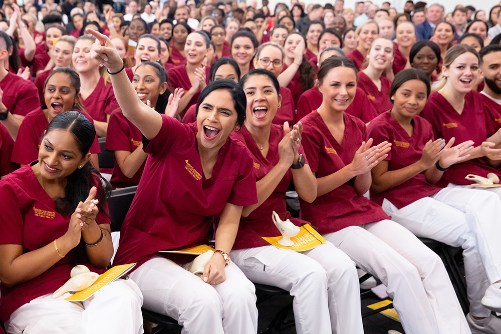 Nursing Students Cheering