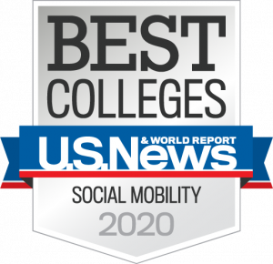 U.S. News & World Report Best Colleges for Social Mobility Badge