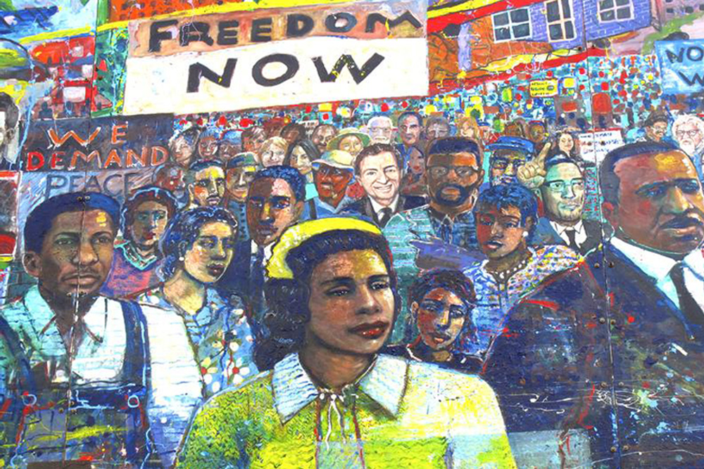 Black History Month Mural Painting