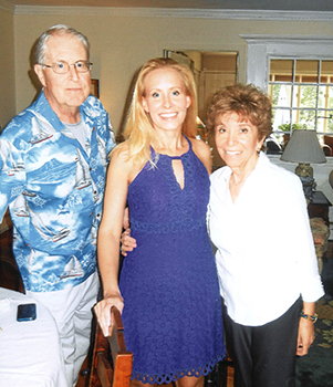 Jennifer Whalen with her parents, Tom and Carol Whalen