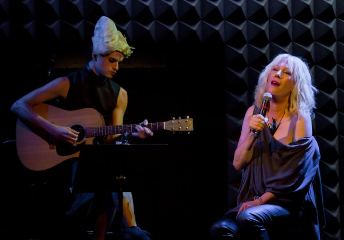 Justin Vivian Bond, with guitarist Nath Ann Carrera performing live at Joe's Pub.