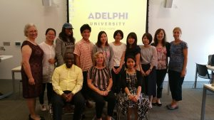Students and professors from Japan and Adelphi