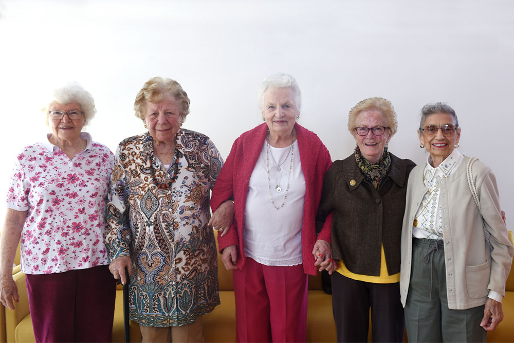 Claire Shulman, Ann Dick, Eleanor Moffatt, Mary Dewar and Dorothy Lornegan