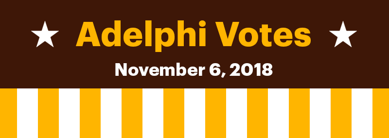 Adelphi Votes banner