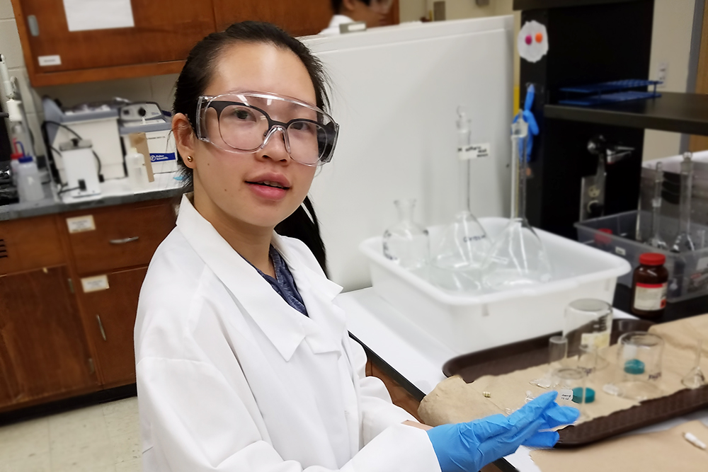 Lani Chau in the lab