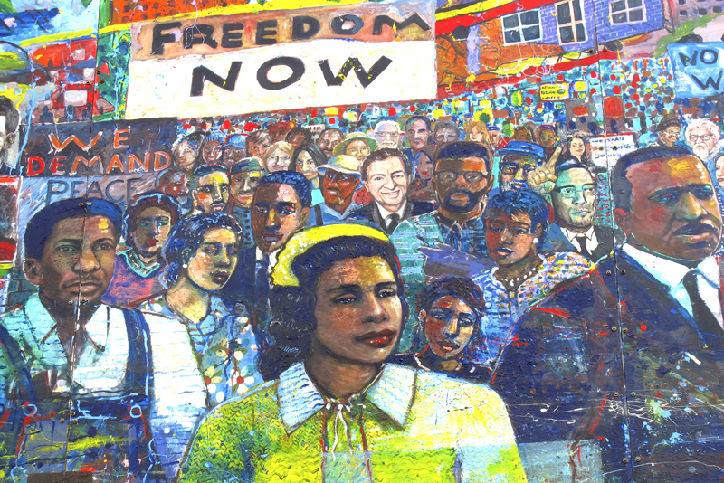 A mural for Black History Month