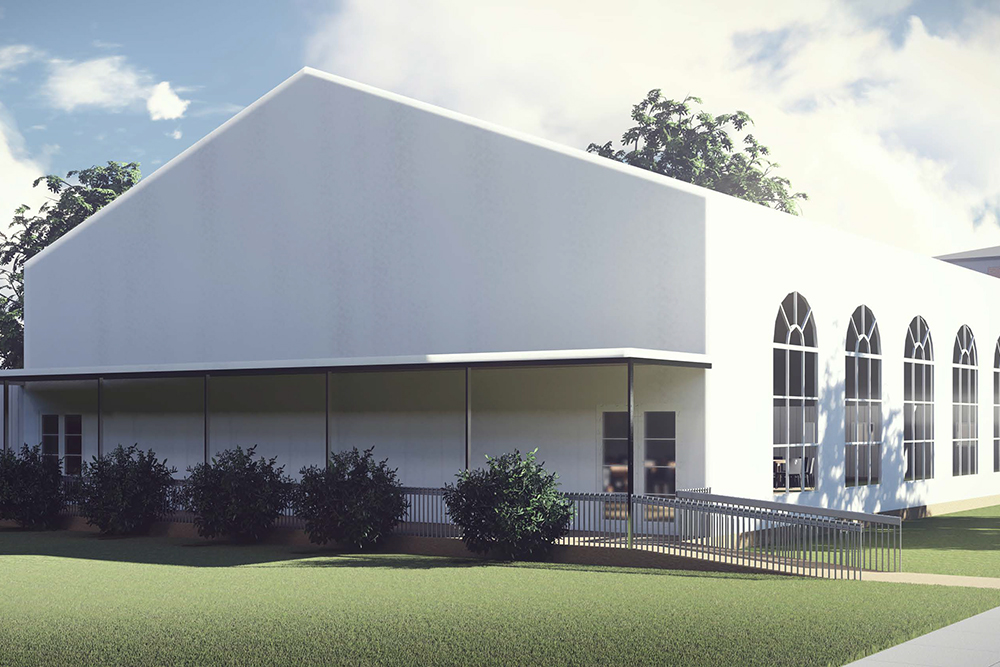 3D Rendering of Temporary Dining Structure