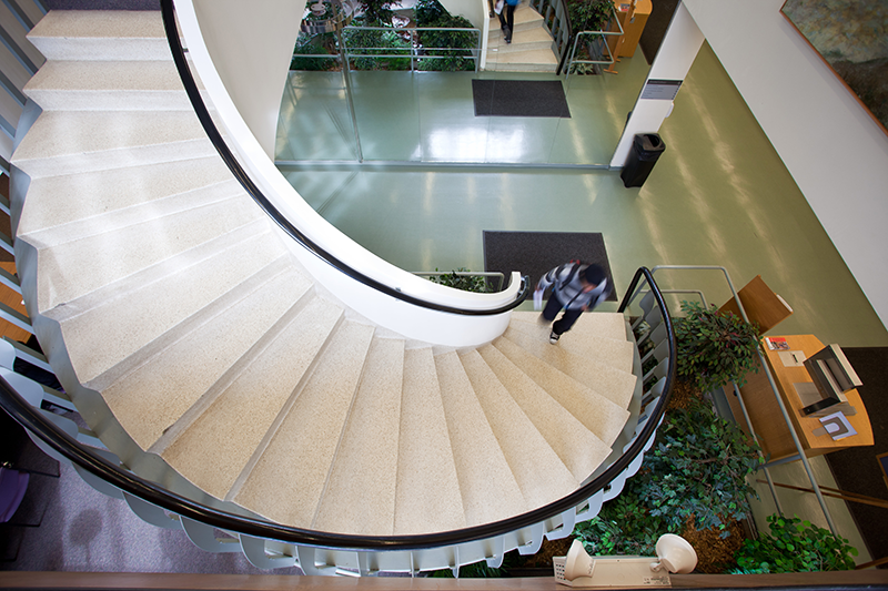 Swirbul Library's Staircase